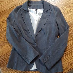 Gray lined blazer